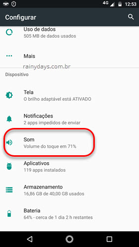Configurar Som Android