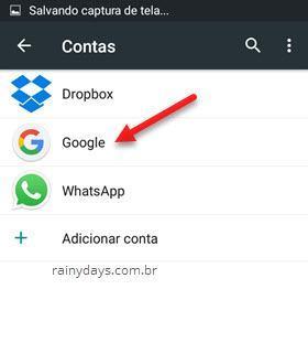 contas Google Android