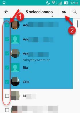 fazer backup de contatos do  Android para dispositivo