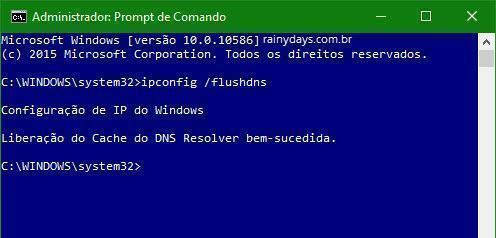 limpar cache do DNS no Windows