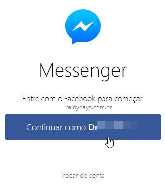 Messenger web login