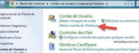 mudar senha do Windows 2