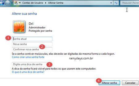 mudar senha do Windows 4