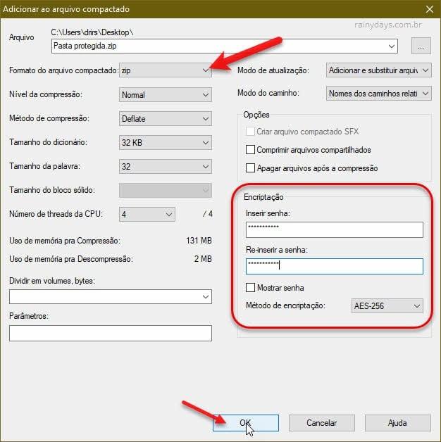 Programa para proteger arquivos e pastas com senha com 7-ZIP Windows