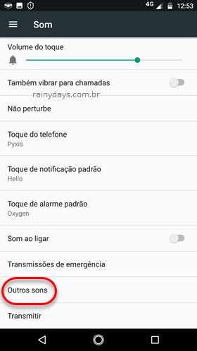 Som Outros Sons Android