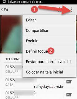 botão três bolinhas definir toque Android 4.4 anterior