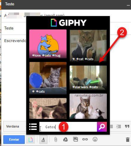 Busca e adicionar gifs direto no Gmail