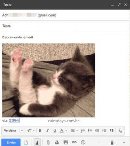 Adicionar GIFs no email com Giphy for Gmail (Chrome)