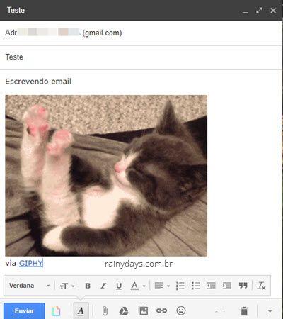 Como adicionar GIFs no email