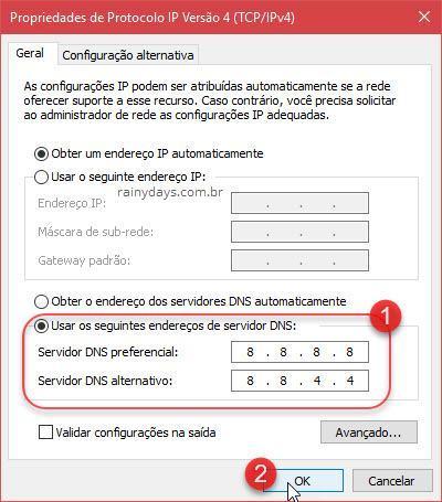 Como usar o Google DNS