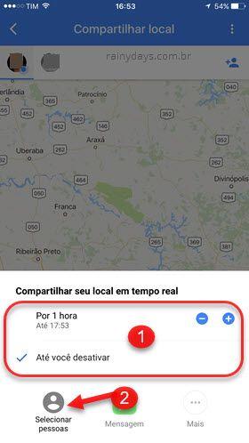 compartilhar localização em tempo real google maps