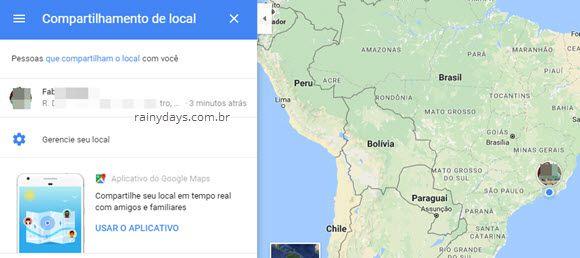 Como compartilhar localização em tempo real no Google Maps