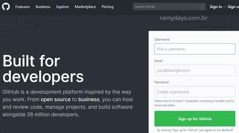 Página principal Github, como excluir conta doGitHub permanentemente