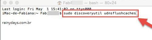 limpar cache do DNS no Mac 2