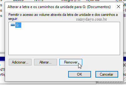 Remover letra drive ou partição Windows para esconder