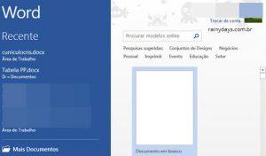 Como desativar tela inicial do Word, Excel e Power Point