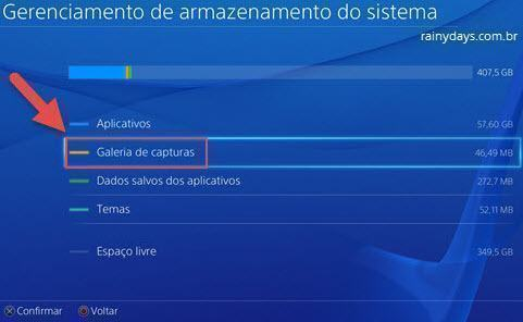 apagar fotos tiradas no PS4 (2)