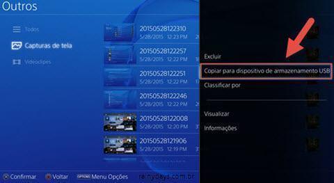 transferir fotos do PS4 para o pendrive (5)