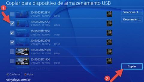transferir fotos do PS4 para o pendrive (6)