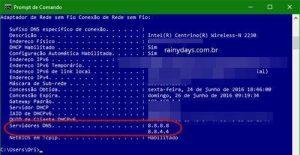 Como ver qual DNS estou usando?