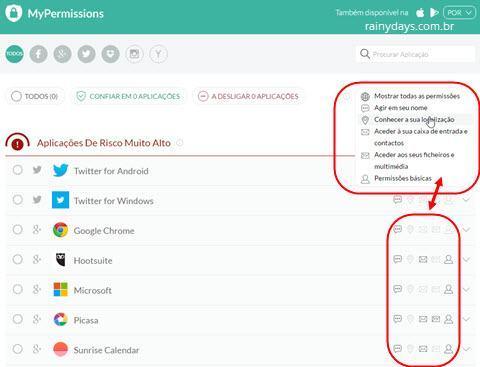 Verificar permissões de aplicativos 3