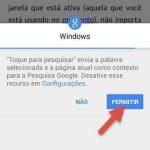 Ativar Toque para Pesquisar no Chrome