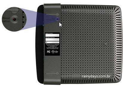 botão reset do modem roteador