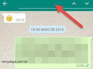 fazer buscas no histórico do WhatsApp 2