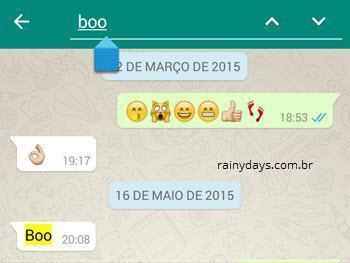 Fazer buscas no histórico do WhatsApp