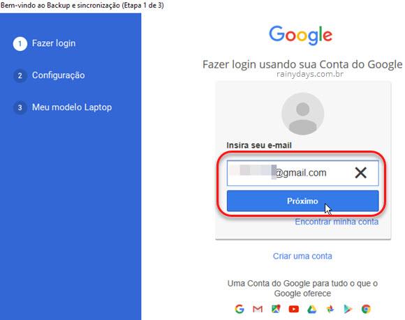 Lgin Backup and Sync Google Fotos Windows