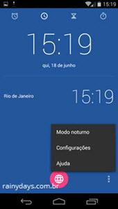 Relógio Padrão do Android na Google Play