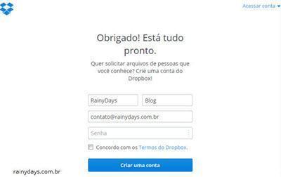Como solicitar arquivos no Dropbox 6