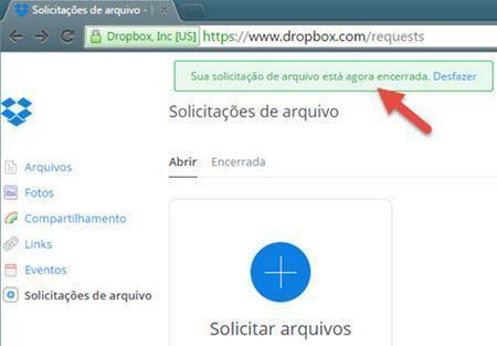 Como solicitar arquivos no Dropbox 9