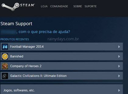 solicitar reembolso no Steam