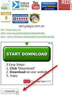 trocar o DNS rapidamente no Windows