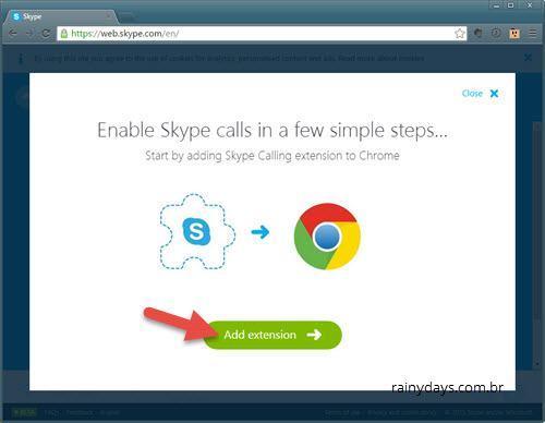 Usar Skype no Navegador