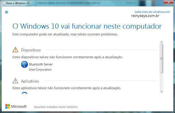 Verificar Compatibilidade do Windows 10