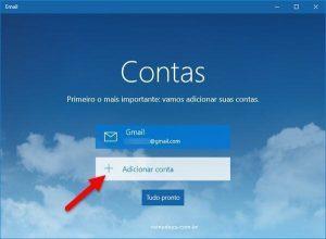 Como adicionar Gmail no Email do Windows 10
