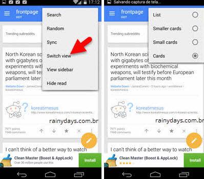 App cliente Sync reddit para Android