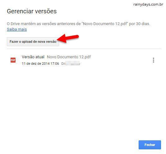 Atualizar arquivos do Google Drive sem mudar o link