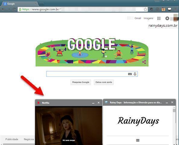 Colocar Vídeos em Pequenas Janelas no Chrome