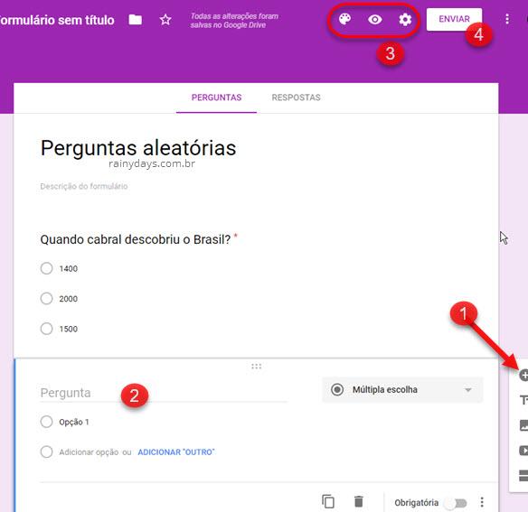 Como criar pesquisas online com formulários Google