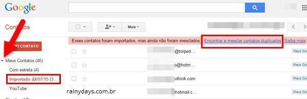 Exportar Contatos do Outlook para o Gmail