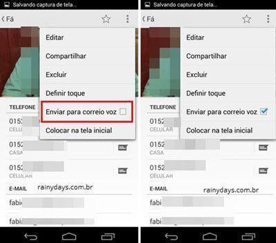 ignorar automaticamente ligações no Android 2