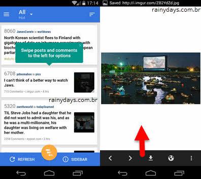 Relay app reddit para Android