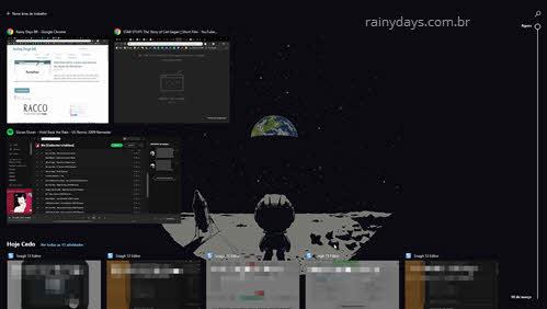 tela visão de tarefas no Windows