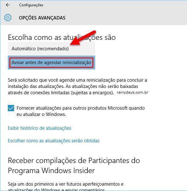 Bloquear Instalação Automática de Atualização (Windows 10)