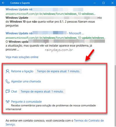 Como entrar em contato com o suporte do Windows 10