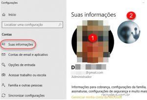 Como apagar fotos recentes da conta no Windows 10