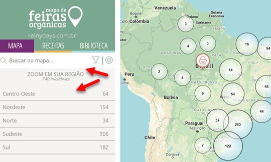 Mapa de Feiras Orgânicas no Brasil